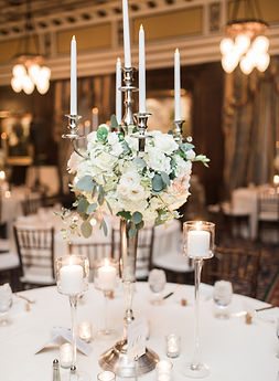 Silver candelabra centerpiece wedding rental Nashville
