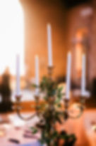 Electric tapered candles candelabra centerpiece rental Nashville