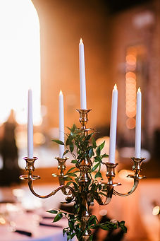 Electric tapered candles candelabra centerpiece rental Nashville