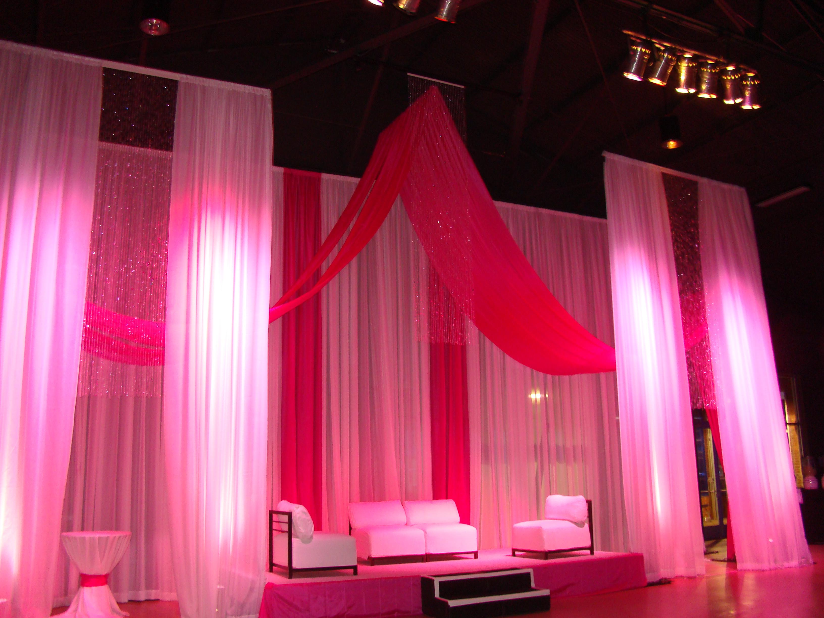 Pink Stage Drape