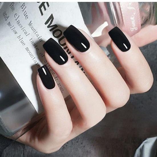Black Glossy Nails