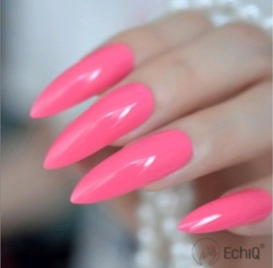 Hot Pink Stiletto Nails