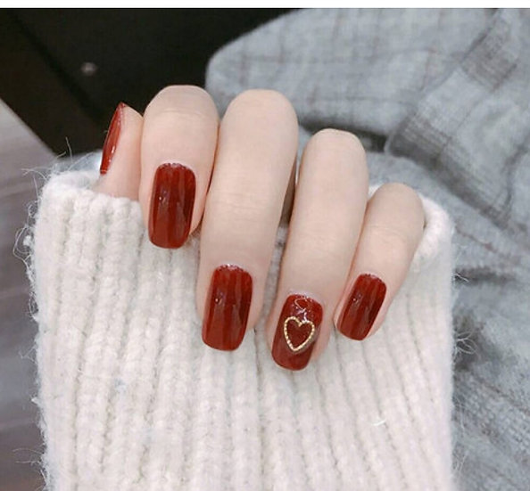 Red Gloss Nails