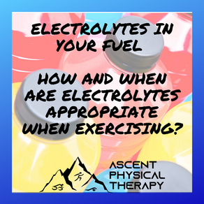 Electrolytes in your Fuel – How and When are Electrolytes Appropriate When Exercising?