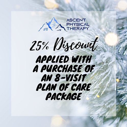25% Discount with Separate Purchase of 8 Visit Package