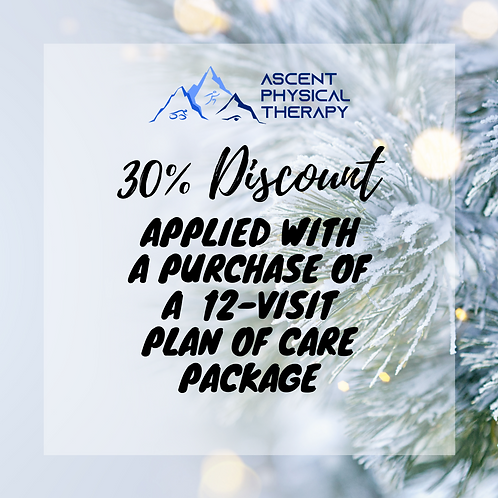 30% Discount with Separate Purchase of 12 Visit Package