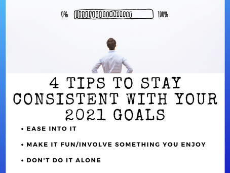 4 Tips to Stay Consistent with Your  Goals for 2021