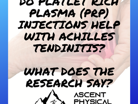 Do Platelet Rich Plasma Injections Help With Achilles Tendinitis? What Does the Research Say?