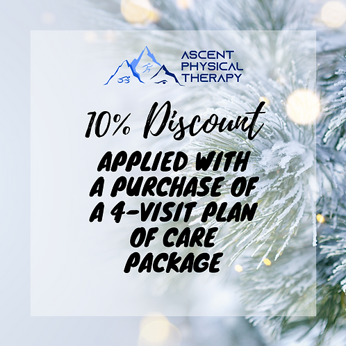 10% Discount with Separate Purchase of 4 Visit Package