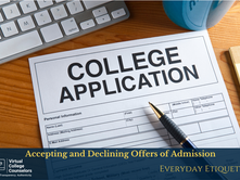 Accepting and Declining Offers of Admission