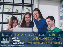 How to Research Colleges to Build a Balanced List