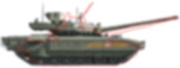 Comparaison T-14 et T-90A