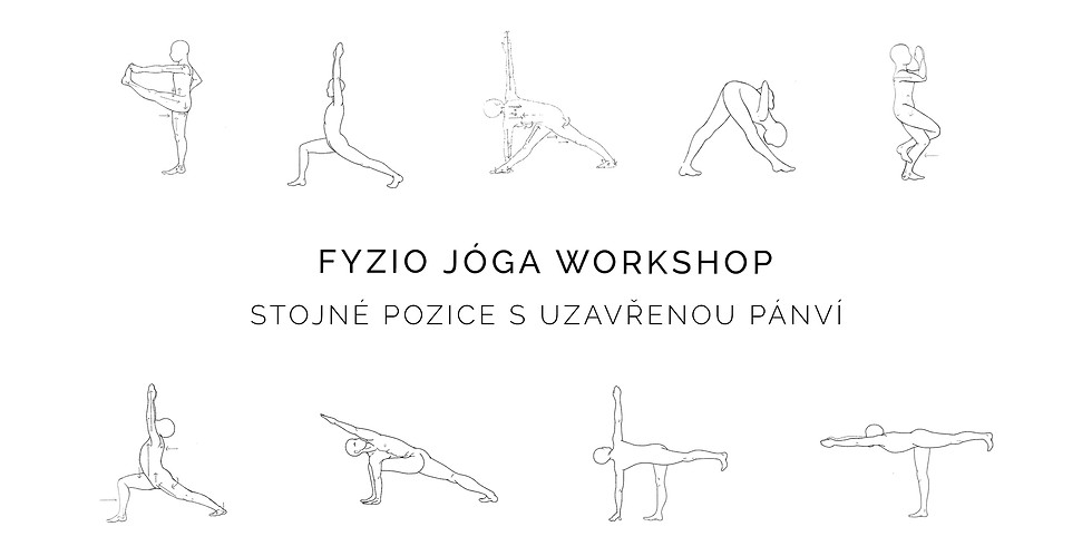Základní jógové pozice z pohledu FYZIO jógy - Stojné pozice s uzavřenou pánví