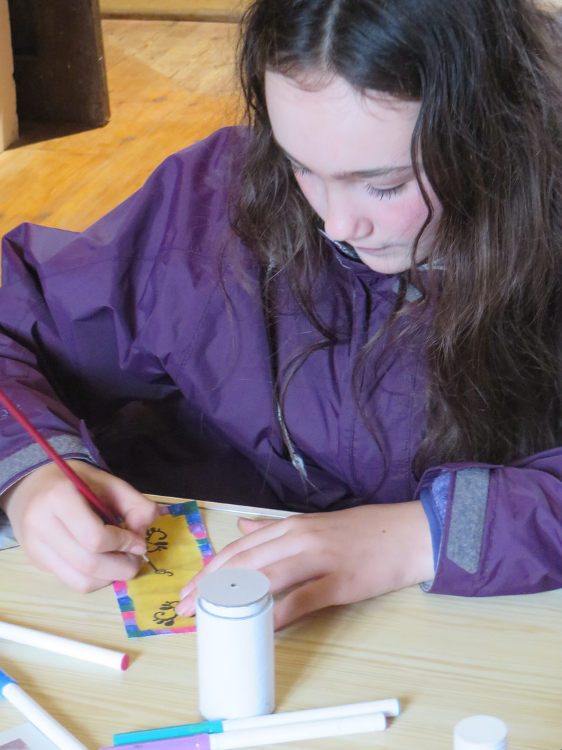 Creating Wish Scroll Amulets at St Nicholas Priory