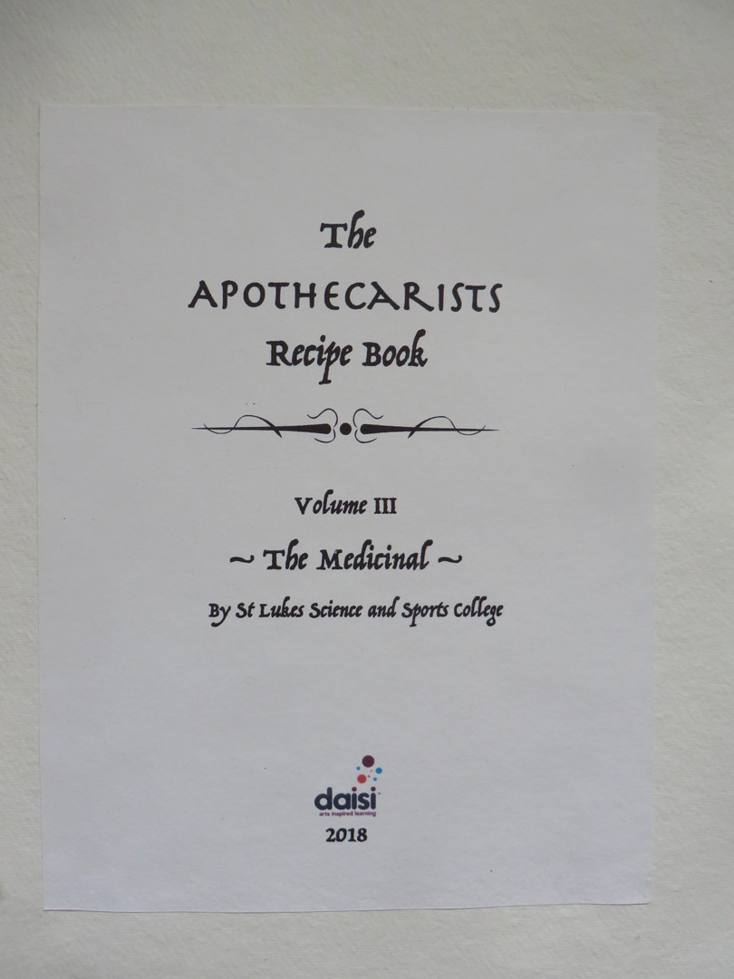 Title page, volume III of The Apothecarists Recipe Book