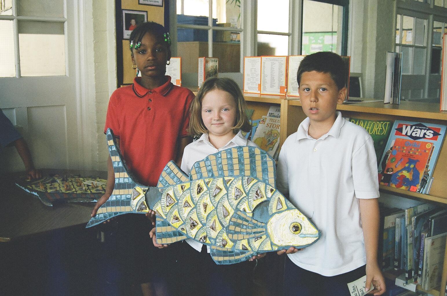 'Animal Park' Mosaic - the Carp