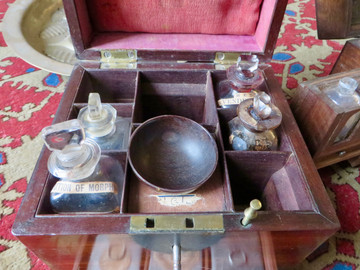 Inside an Apothecarists Box from the St Nicholas Priory collection