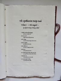 Contents Page, Volume I, the Apothecarists Recipe Book