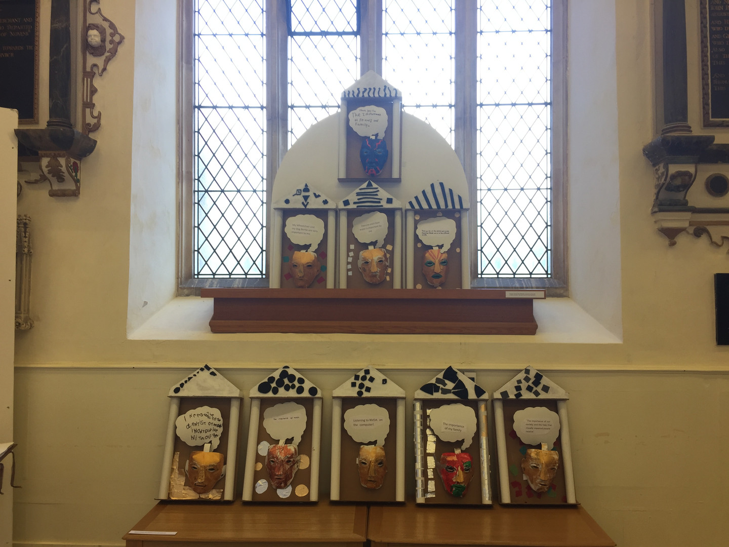 House Gods created with James Lake at the 'Re-Boot' Exhibition at St Stephens Church