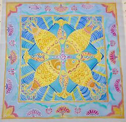 Fish - Silk painting - 2018