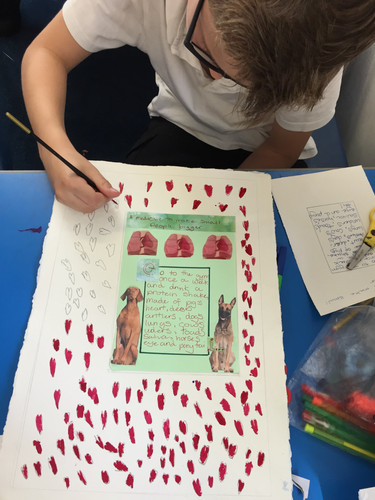 Painting the illuminated manuscript pages