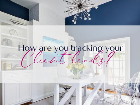 How are you tracking your client leads?