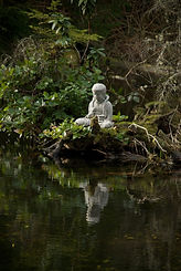 Meditate with Buddha at our Sacred Pond.
