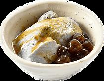 デザート:黒胡麻きな粉プリン:胡麻と黒蜜&きな粉.png