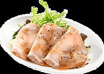 おつまみサラダ:大地のぶたのローストポークサラダ:自家製わさびドレッ