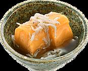 おつまみサラダ:玉子しらす:自家製の餡にしらすを絡めて.png