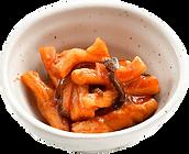 おつまみサラダ:ぽりぽりキムチ:この食感が癖になる!大根のキムチです。
