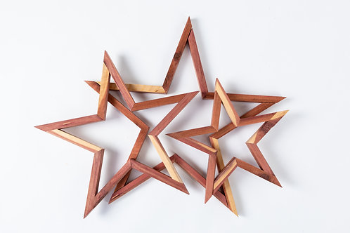 5 POINT STARS SET OF 3