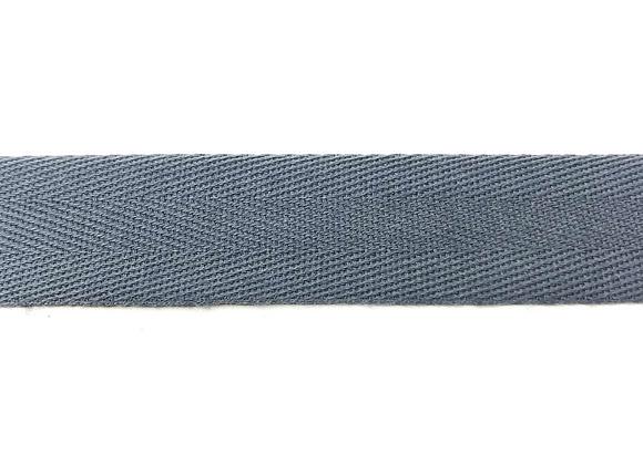 Köperband Grau