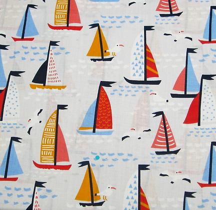 Segelboote frisch, fröhlich Baumwolle