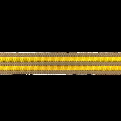 Gurtband 4 cm Gestreift Beige Gelb