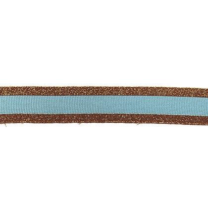 Ripp Band Stripes 30 mm Braun Hellblau