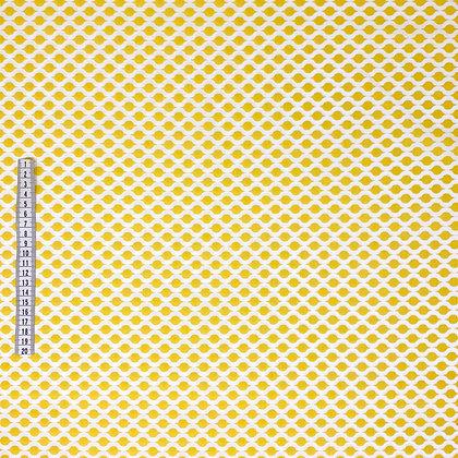 Baumwollstoff oval gelb