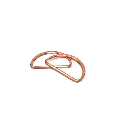 D Ringe 2 Stück 4 cm Bronze Rosegold