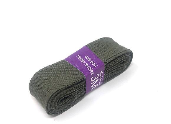 Schrägband 20 mm Dunkelgrün Khaki
