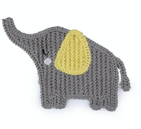 Häkeln Applikation Elefant