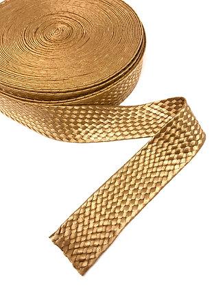 Gurtband geflochten 40 mm Gold