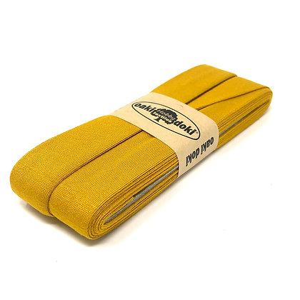 Schrägband 20 mm Senf