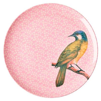 Rice Frühstücksteller Kolibri Rosa