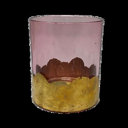 Glas Teelicht Rose Gold Klein