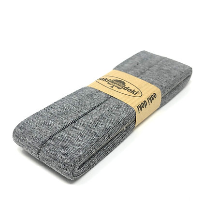 Schrägband 20 mm Grau