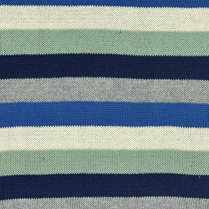 Baumwoll-Strick Streifen Blau / Grün