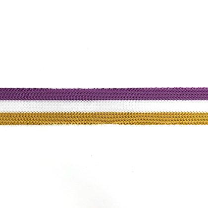 Ripp Band Stripes 30 mm Lila Curry