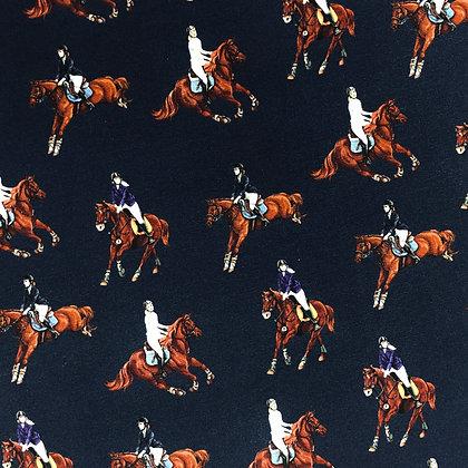 Jersey Pferde Reiter Dunkelblau
