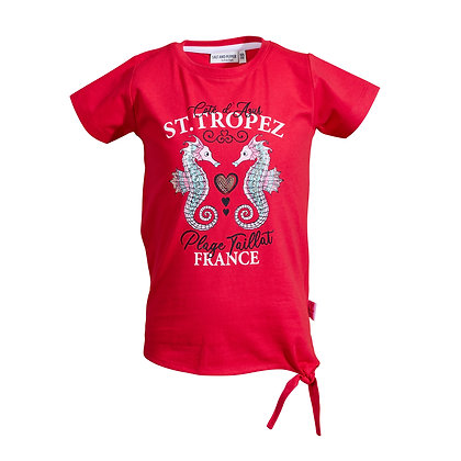T-Shirt St.Tropez Pailletten lollip Red