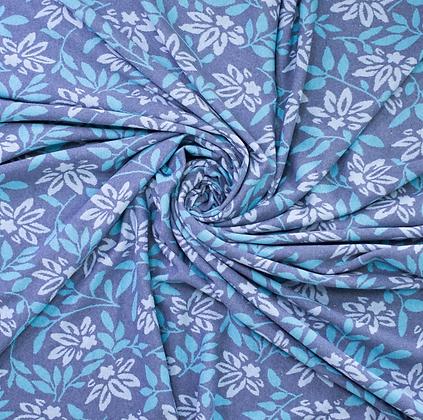 Jacquard Blumenwiese Blau
